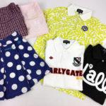 パーリーゲイツのポロシャツと水玉のスカートとパンツ