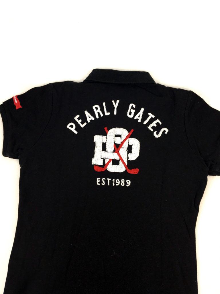 パーリーゲイツのバックロゴのポロシャツ
